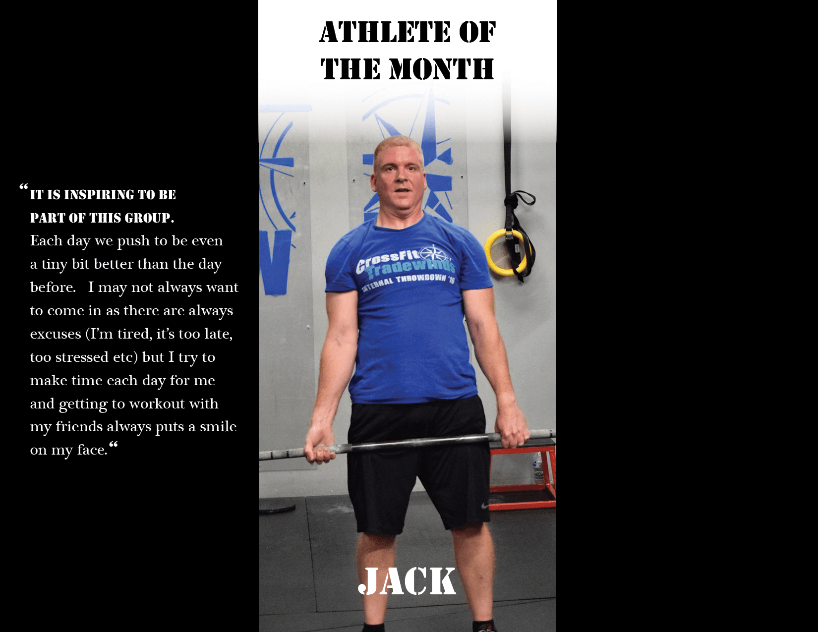 March 2019 Athlete of the Month – CrossFit Tradewinds